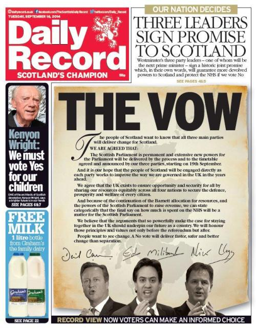 vow daily record 16.9.14