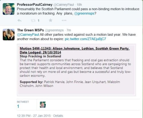 scotgreens fracking tweet 27.1.15