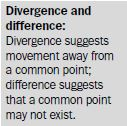 divergence difference