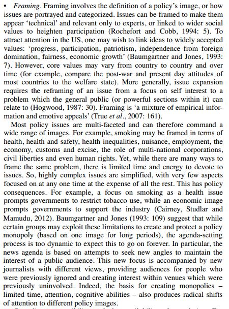 Policy Concepts in 1000 Words: Framing | Paul Cairney: Politics ...